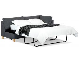 Mirage Chaise Bed featuring Spring Mattress and Metal Legs