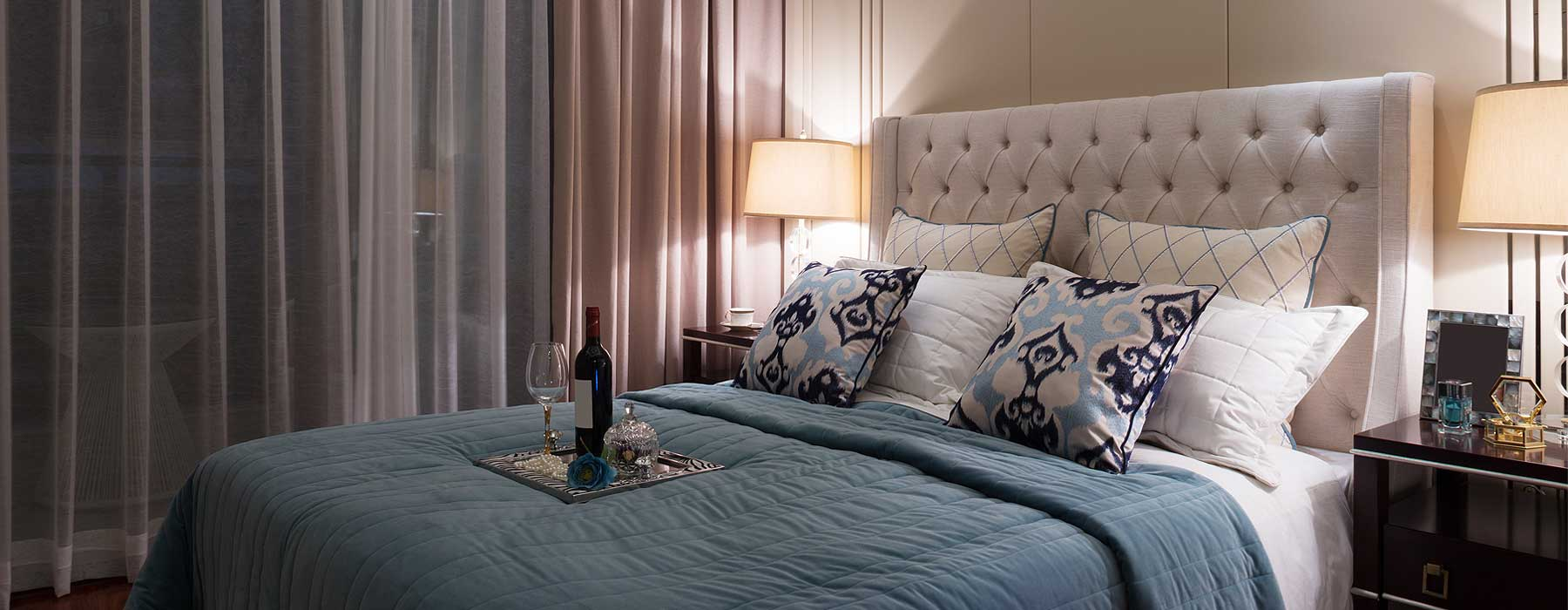 Explore our wide selection of elegant bedroom pieces, including custom-made storage beds and bedheads.